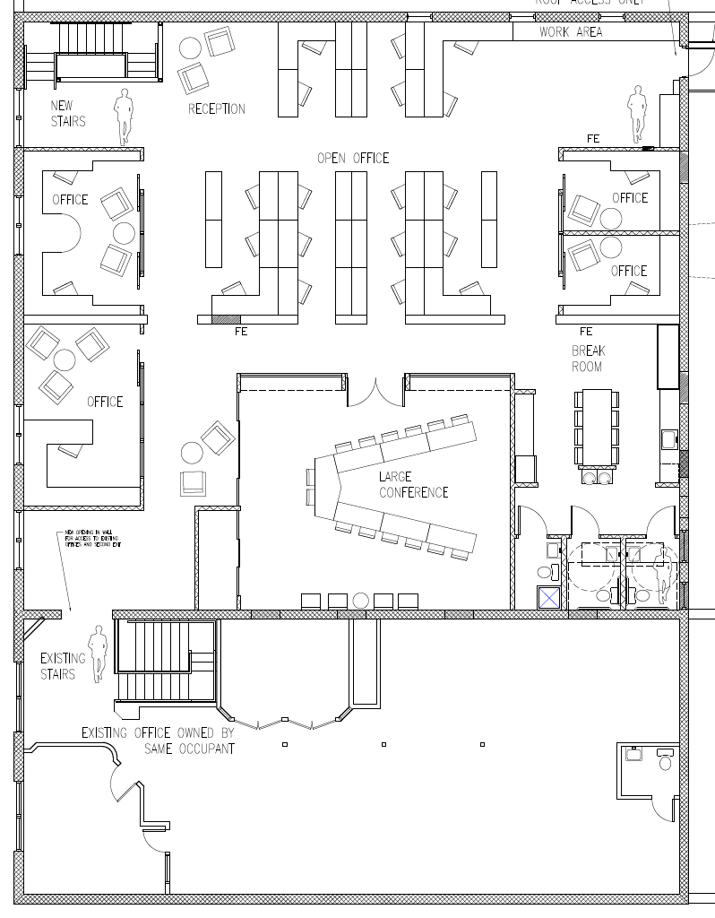 Current Floorplan (the bottom part is our existing office).