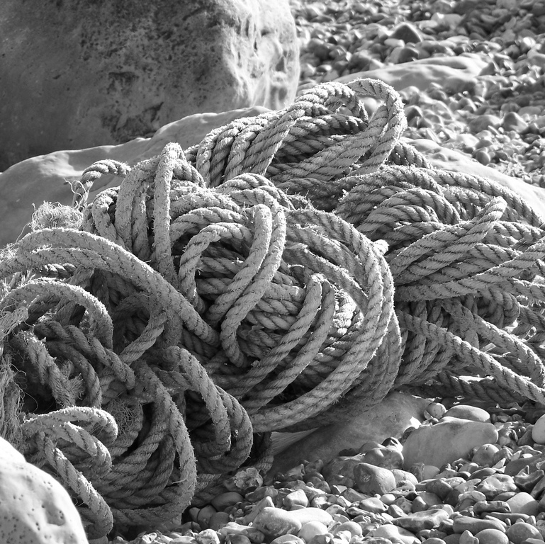 a tangled bit of rope